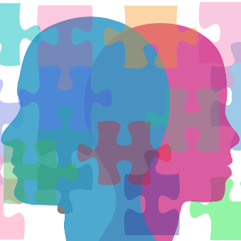 Couple man and woman face puzzling interpersonal problems need counseling